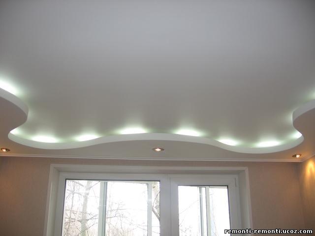 Потолок из гипсокартона как сделать в спальне 157